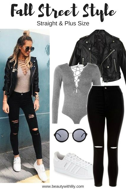 Affordable Fall Street Style Outfit | Trendy, edgy and casual outfit that will look great on anyone!
