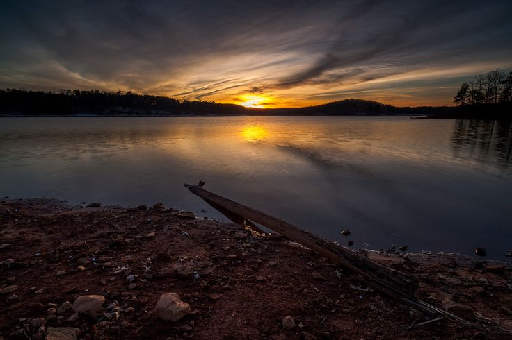 John Cothron posted a photo:  Sunset on Lake Lanier at Bolding Mill Park in Gainesville, Georgia.. Bolding Mill Park is located in Hall County, GA on the northern end of Lake Lanier. It has a lot of amenties including a beach, campground, fishing, boat ramp, restrooms, as well as hiking trails. It is somewhat off the beaten path and I would consider it a hidden gem.  (0.5 sec at f/11)  ©John Cothron 2017, If you are interested in licensing any of my images, please feel free to contact me via…