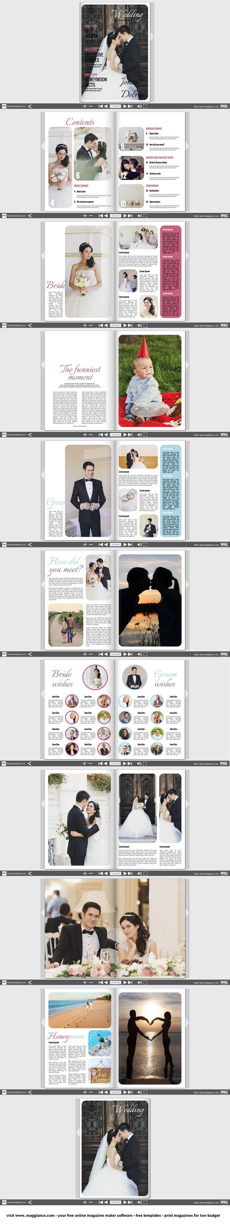 Hochzeitszeitung kostenlos online erstellen und günstig drucken unter…