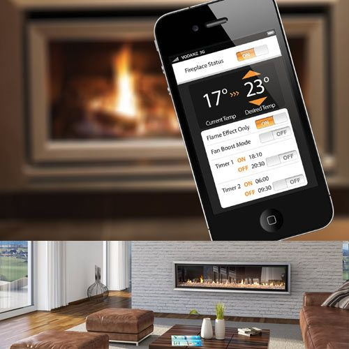 Escea has just launched a new range of gas fireplaces that features the coolest thing ever: built-in WiFi connectivity. That means — you guessed it — the ability to control your fireplace with your smartphone.