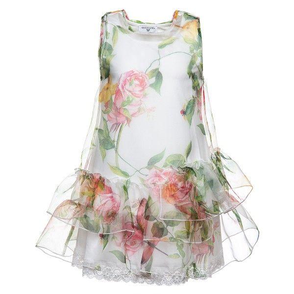 Платье из органзы с  розами