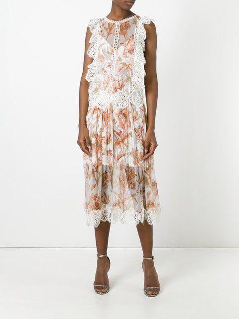 Zimmermann прозрачное платье с рюшами