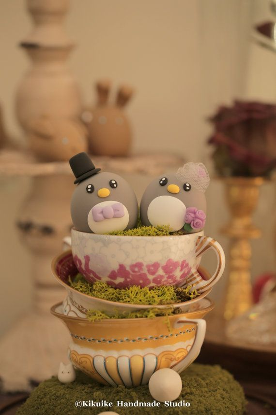 Topper de gâteau de mariage de pingouins