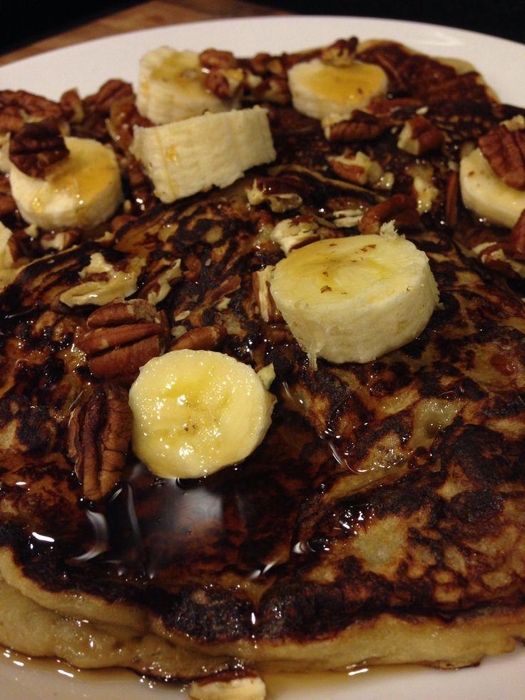 Bananas Foster Pancakes | Girl Gone Veggie