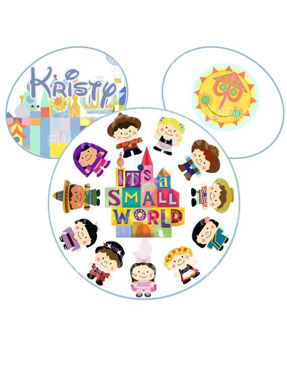 Image result for its a small world iron on transfers