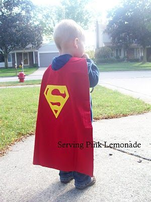 Make a cape for a little boy! Template is posted. Age 2-4 and 5-9