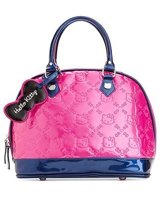 Hello Kitty Handbag, Embossed Bowler Bag - Handbags & Accessories - Macys