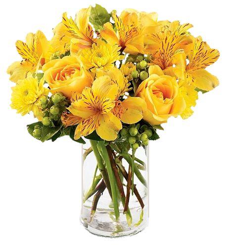 sárga rózsák liliommal.pn