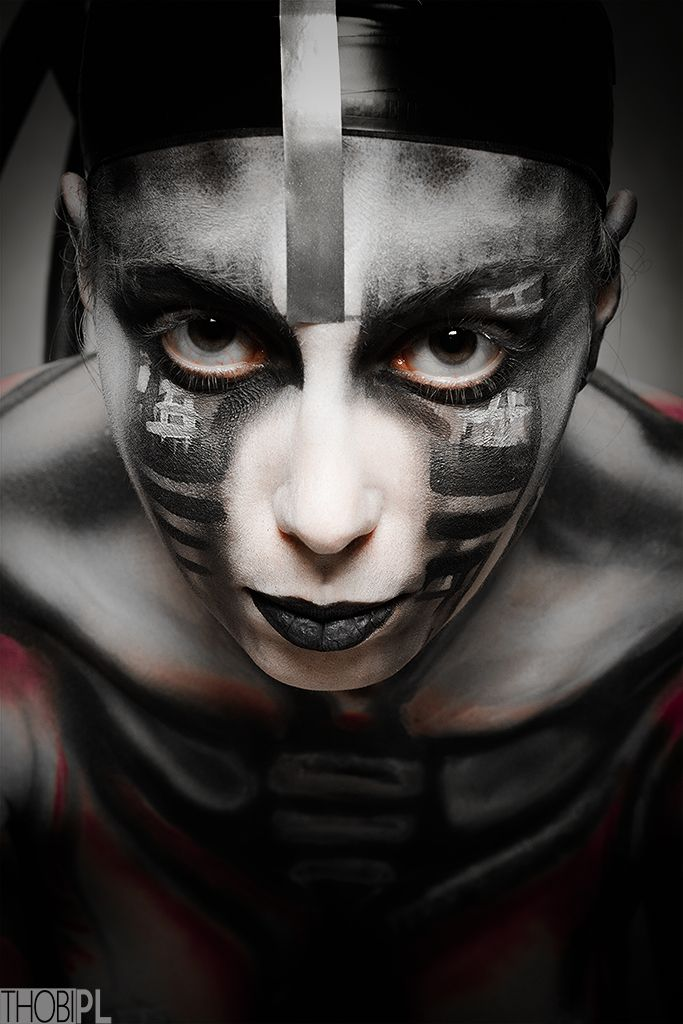 a little piece of absurd at night :)  #black-white, #bodypainting, #city, #DIY, #portrait, #stylization #bodypainting, #cyber, #cyberpunk, #cyberpunk 2020, #cybertrash, #cyborg, #slums, #tentacles, #the fifth element, #trash, #wires