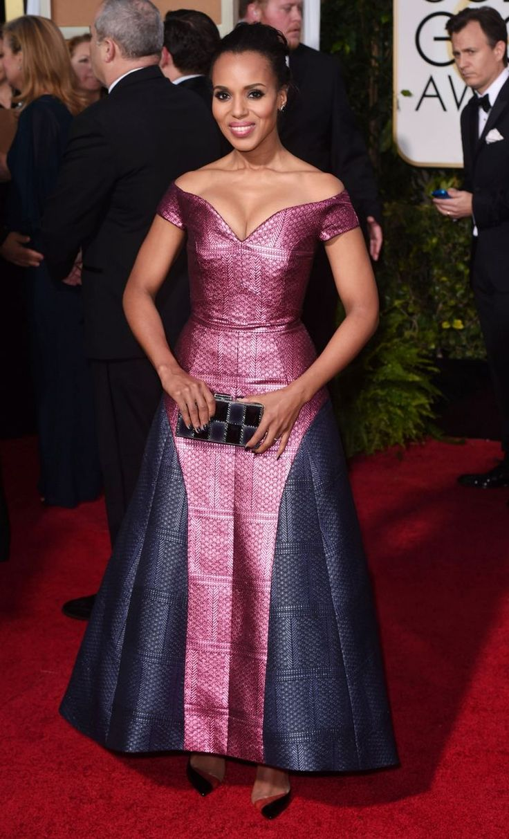 Kerry Washington arrives at the 72nd Annual Golden Globe Awards 2015