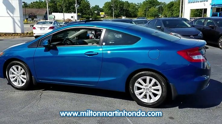 USED 2012 Honda CIVIC 2DR MAN EX at Milton Martin Honda  #K3345