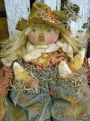 PRIMITIVE-FALL-SCARECROW-DOLL-FALL-CANDY-CORN-FOLK-ART-SCARECROW-DOLL-OLD-JEANS