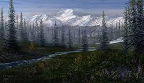 alaska taiga forest attempt 1 by andrekosslick