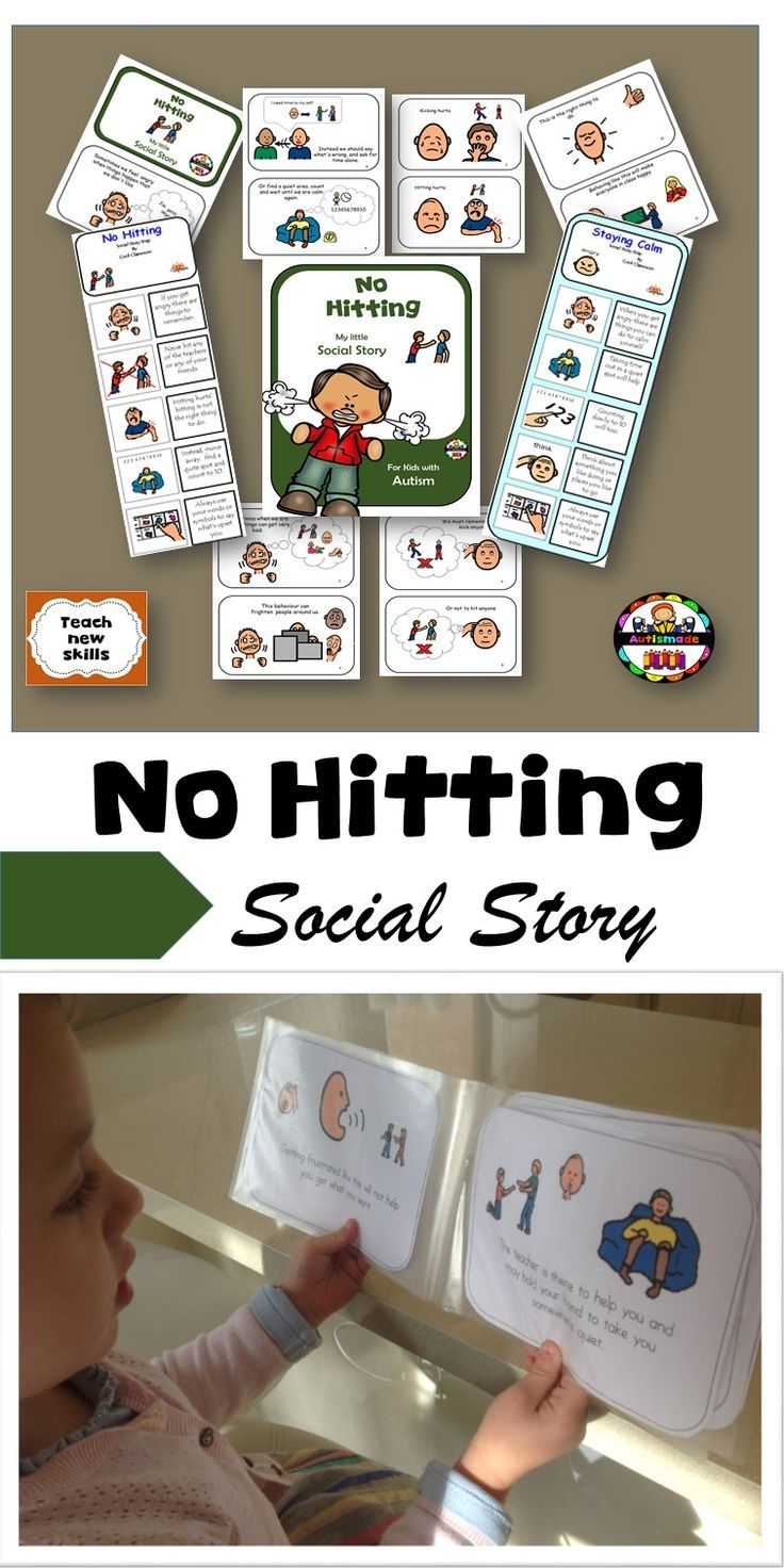 Social stories can be used as a behavioural strategy by modelling what is the right and wrong thing to do.