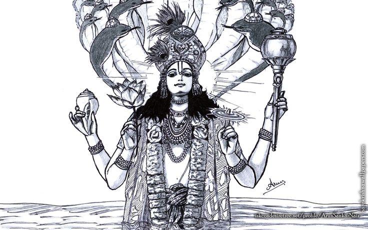 To view Vishnu wallpapers in difference sizes visit - http://harekrishnawallpapers.com/sri-vishnu-artist-wallpaper-004/