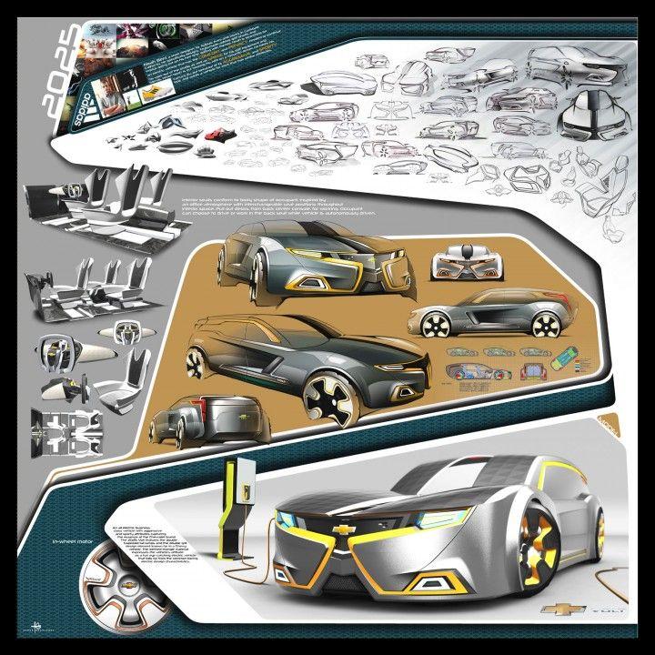 2025 Chevrolet Volt Sportwagen Konzept von Ahmed Ghamloush – Design Board   – Portfolio ideas