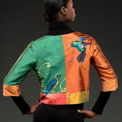 """Smithsonian @craft2wearSWC, Oct 1-3, 2015, Washington DC. How can you resist the playful and bright silk of Starr Hagenbring?? She says each piece is full of """"playful dexterity and meticulous construction"""". We agree. http://swc.si.edu/craft2wear Starr Hagenbring (wearable art)"""
