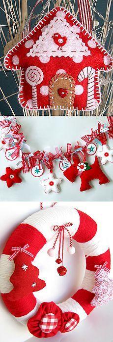 Новогодние украшения для дома и елочные игрушки из ткани - Рукоделие