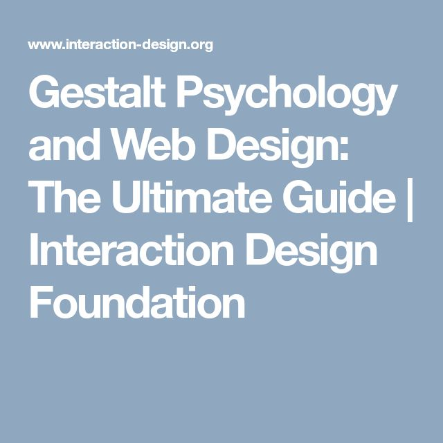 Gestalt Psychology and Web Design: The Ultimate Guide | Interaction Design Foundation
