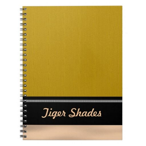 Tiger Shades Notebook