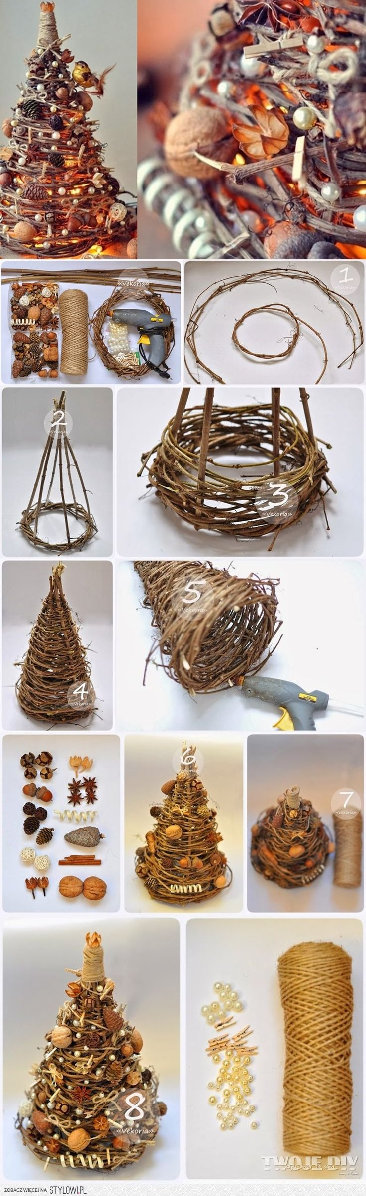 DIY Lighted Christmas Tree with every kind of crazy decorations you want!