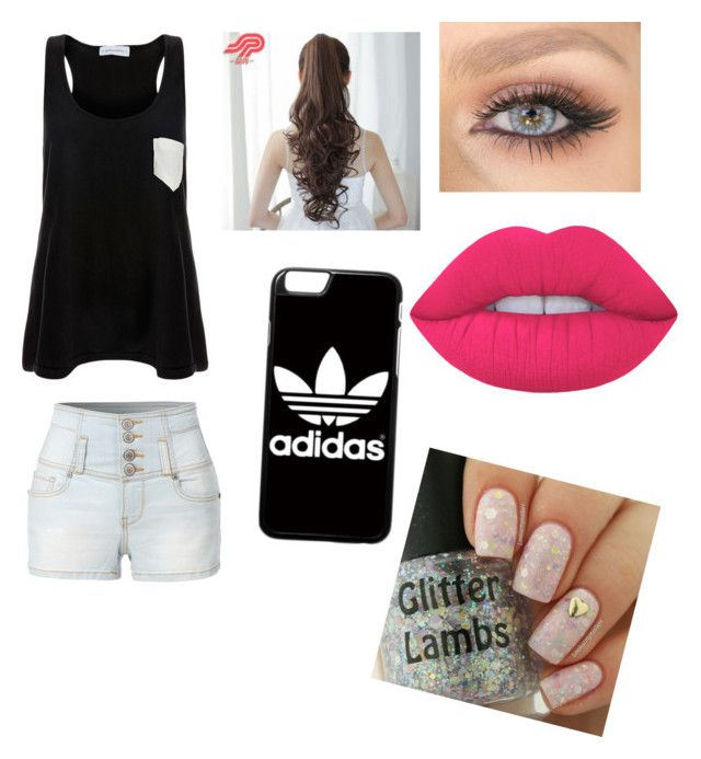 Untitled #3 by julle-fangirl on Polyvore featuring polyvore, fashion, style, Solid & Striped, LE3NO, adidas, Pin Show, Lime Crime and clothing