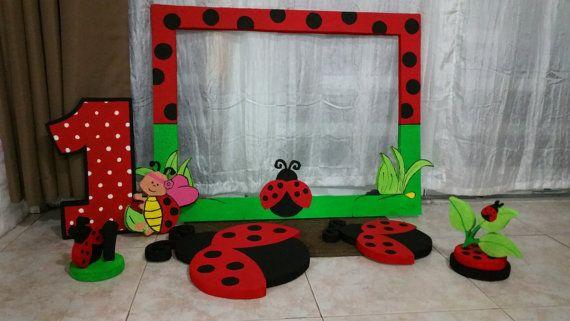 Ladybug party decoration Kit di StyrofoamArtDesign su Etsy