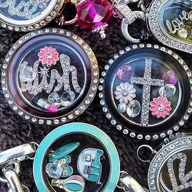 #Variety of Origami Owl lockets. Design yours today at my site:http://dreambig.origamiowl.com/ #lockets #charming
