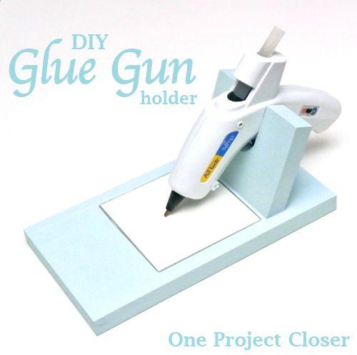 How-To: Hot Glue Gun Holder #crafts #organization