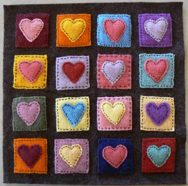 Hearts applique