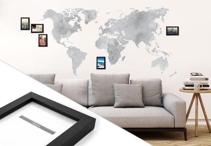 24 besten landkarten weltkarten wandtattoo l nderkarten zum aufkleben bilder auf pinterest. Black Bedroom Furniture Sets. Home Design Ideas