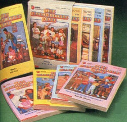 The Babysitters Club - I owned so many of these! I think I still have them in a box somewhere. I remember my sister and I trying to start up our own club. I thought these girls were so glamorous and mature (at 13!). Going to the library/book trailer o see if a new book was in was the highlight of my week. :)