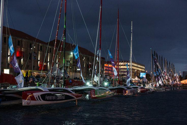 Dernières nuits havraises pour la flotte de la #TJV2013 ! par Jean Marie Liot #Havre #Multi50   www.scanvoile.com