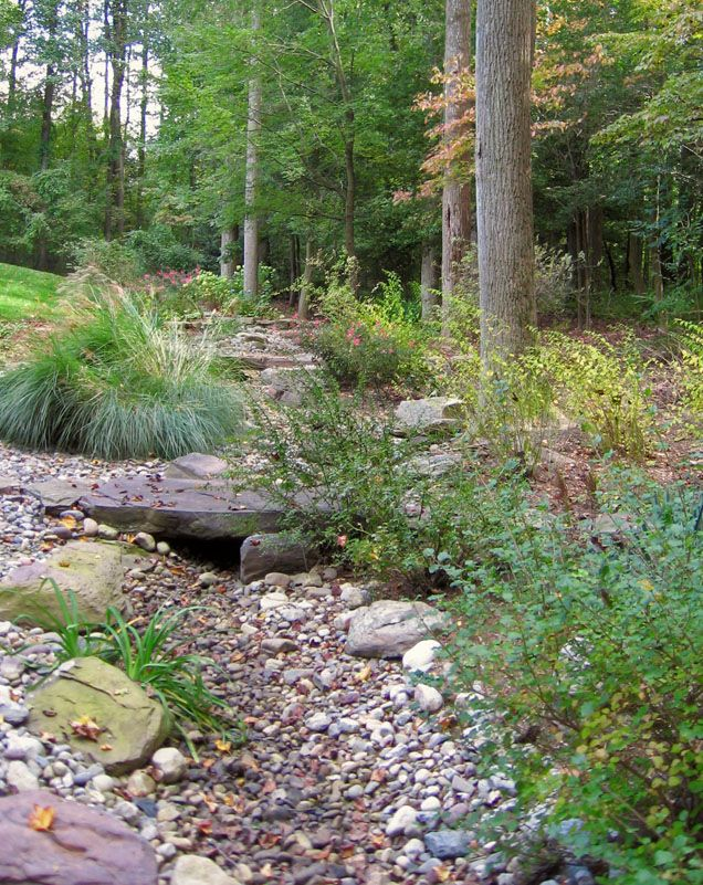 17 best dry creek bed ideas images on pinterest dry for Yard drainage options