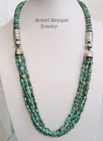 Gem Silica Multi strand Long Necklace | Southwestern Basics Collection | Schaef Designs Sothwestern Jewelry | New Mexico
