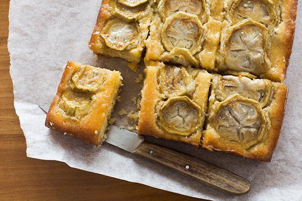 Feijoa, coconut and lemon syrup cake – Recipes – Bite