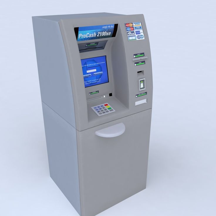 Max Automated Teller Machine Atm - 3D Model