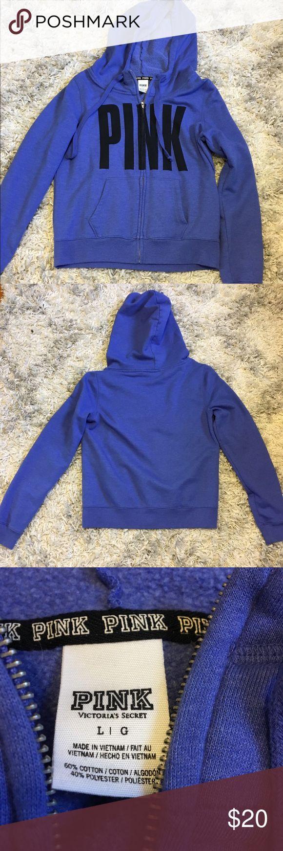 VS pink purple zip up hoodie size L VS PINK purple zip up hoodie. Size L PINK Victoria's Secret Tops Sweatshirts & Hoodies