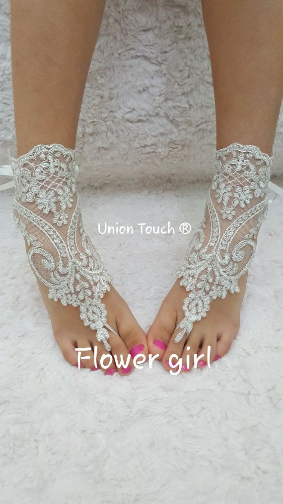 Barefoot Sandals, Flower Girl Barefoot Sandals, Christening Sandals, Baby Shower Gift, Kids Barefoot Sandals, Baptism Sandals