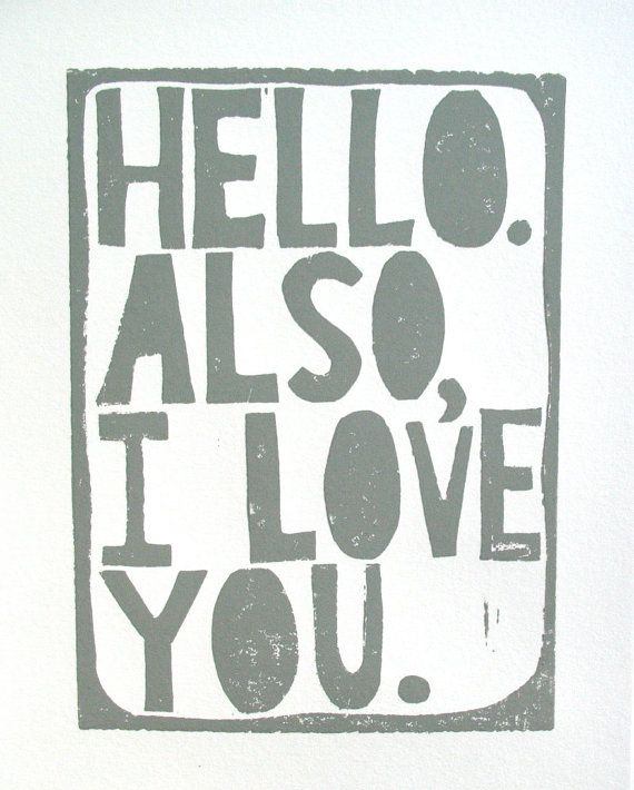 so cute: Iloveyou, Inspiration, I Love You, Quotes, Valentines, Art, Things, Linocut Prints