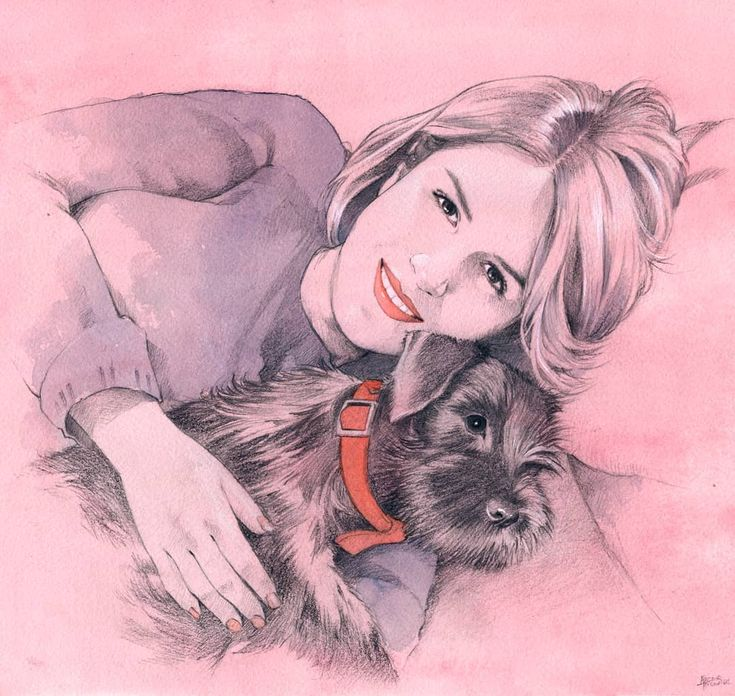 Cat and dog 😊 Graphite and watercolor #portrait #graphite #pencil #watercolor #dog #present #art #acuarela #lapiz