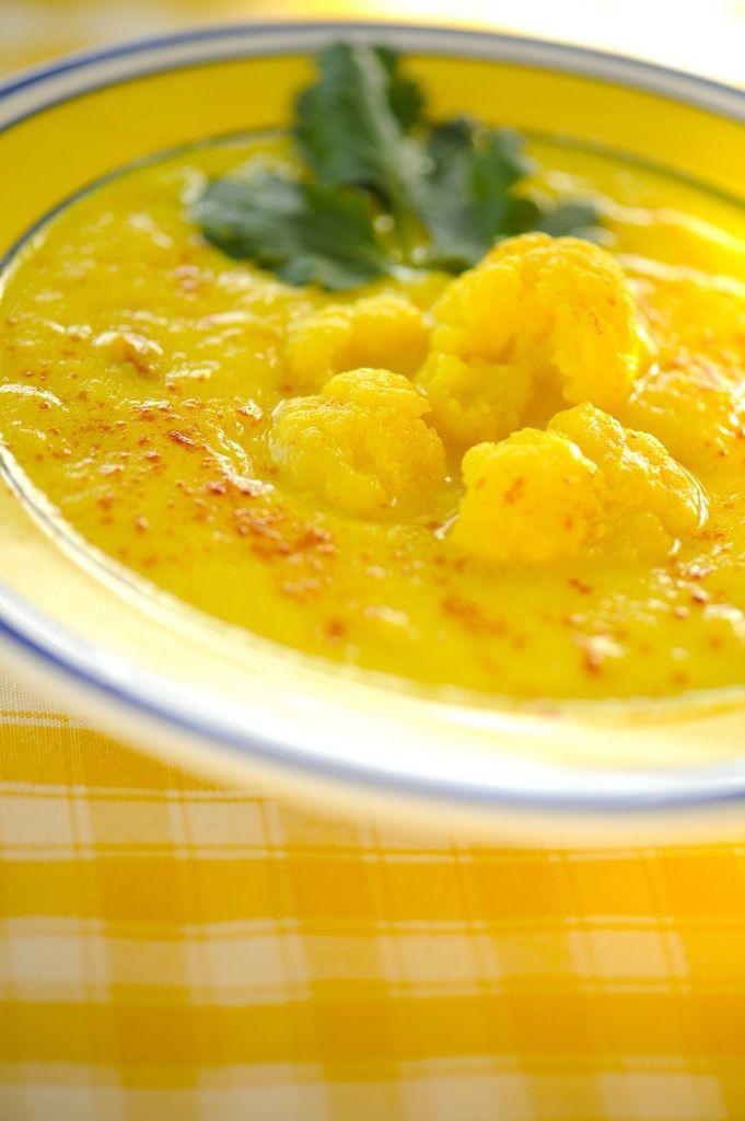 Суп из цветной капусты с мясом