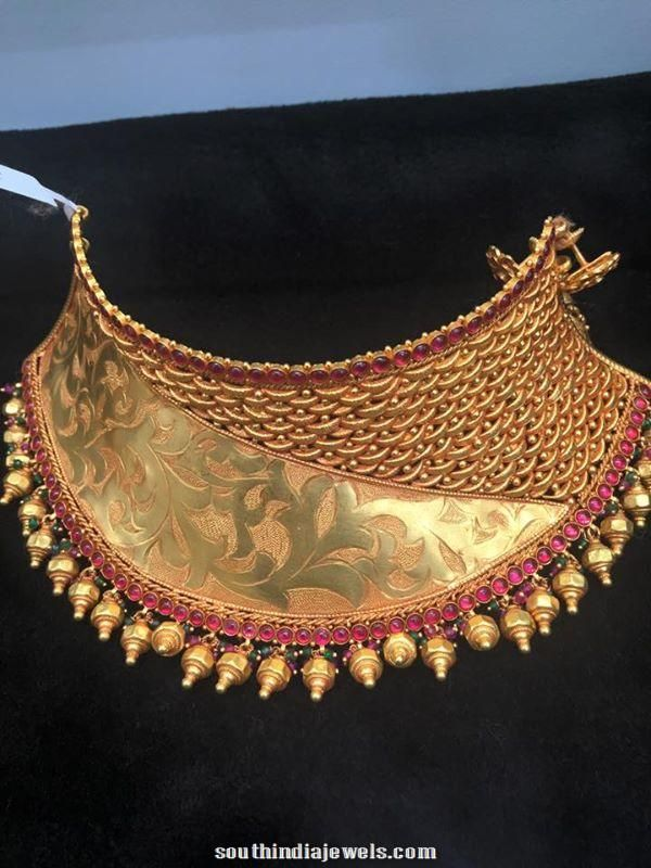 Bridal Gold ruby Choker design