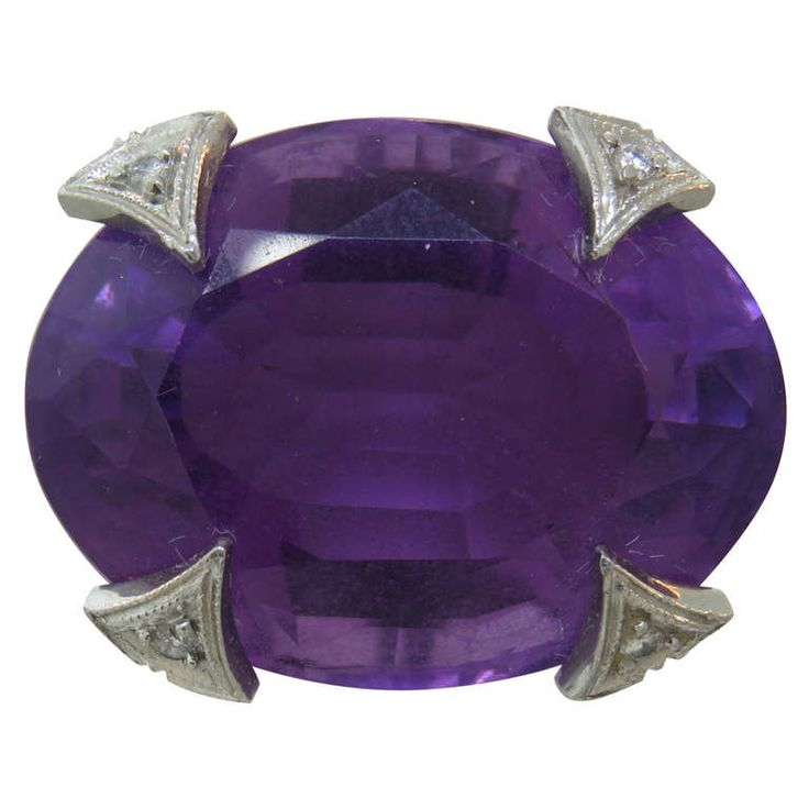 Cathy Waterman Platinum Amethyst Diamond Ring http://www.1stdibs.com/jewelry/rings/more-rings/
