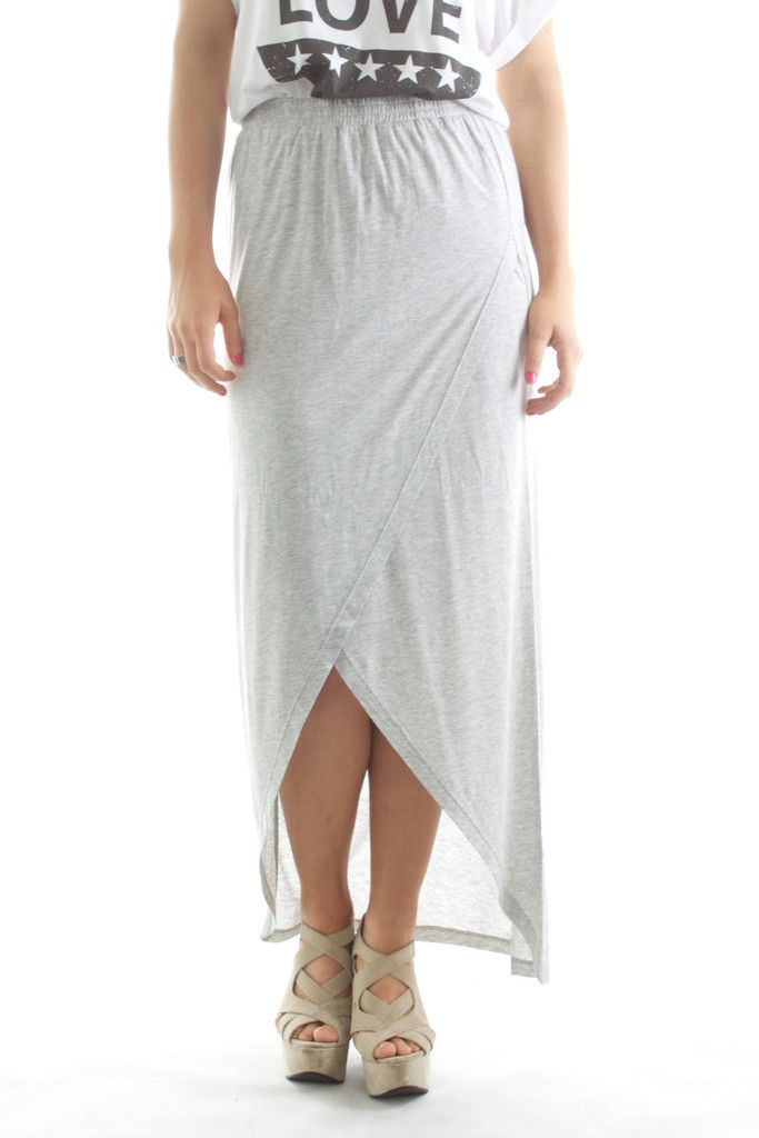 Basics Cross Over Maxi Grey Marle