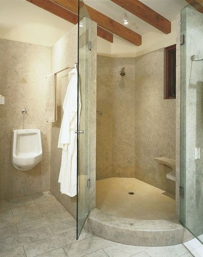 17 best images about shower stall with seat on pinterest for Real simple bathroom ideas