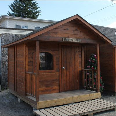 WestviewManufacturing Emily's Cabin 10 Ft. W x 12 Ft. D Wooden Portable Shed