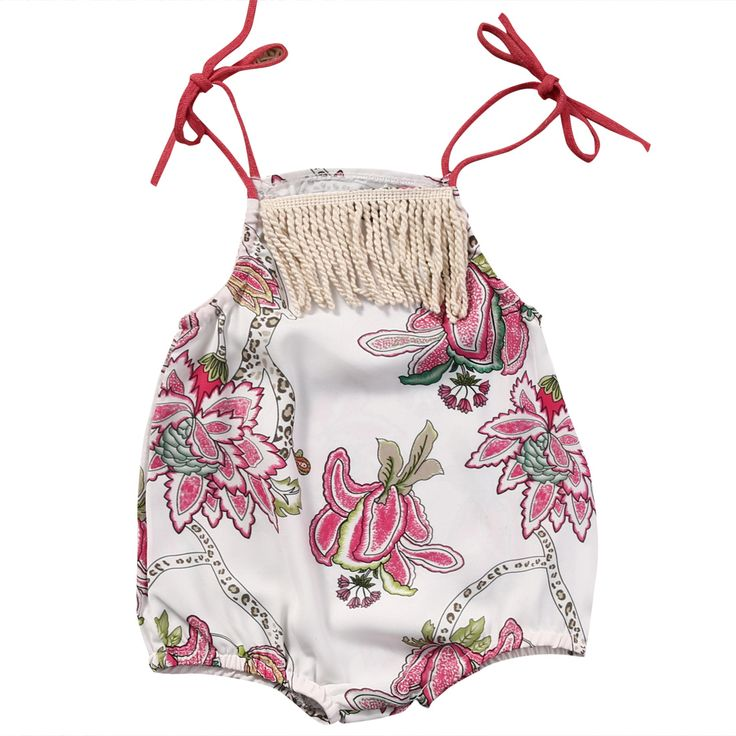 Cute Newborn Baby Girls Cotton Clothes Tops Flower Sleeveless Jumpsuit Romper Cute Kid Baby Girl Clothing New