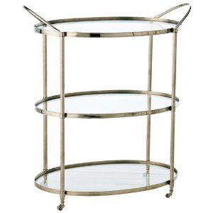 I love the tiny casters on this bar cart - I think I may switch out the casters on mine!
