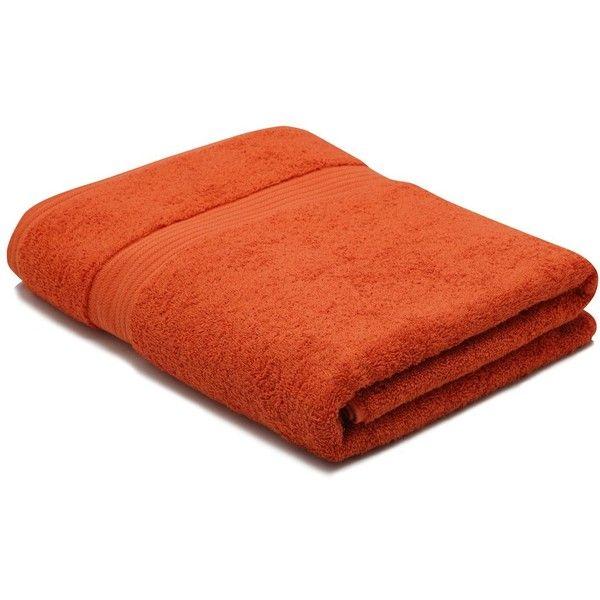 M&Co Orange Combed Cotton Bath Sheet ($24) ❤ liked on Polyvore featuring home, bed & bath, bath, bath towels, ginger, orange bath sheets, colored bath towels and orange bath towels
